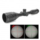Sniper 3~9X Magnification Adjustable Objective Red / Green Mil-dot Reticle Aim Sight - Black