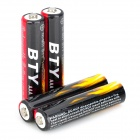 "BTY Rechargeable 1.2V ""1400mAh"" AAA Battery - Black + Red (4 PCS)"