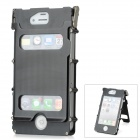 Protective Top Flip-Open Aluminum Alloy Case for iPhone 4 / 4S - Black