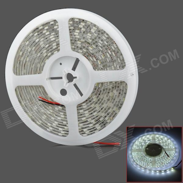 Waterproof 72W 4200lm 300-SMD 5050 LED White Light Car Decoration Lamp Strip (5m / DC 12V) zdm waterproof 72w 200lm 470nm 300 smd 5050 led blue light strip white grey dc 12v 5m