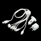 UNT-C26 Car Charger + Charging Cables + EU Adapter for iPod / iPhone / HTC / PSP + More