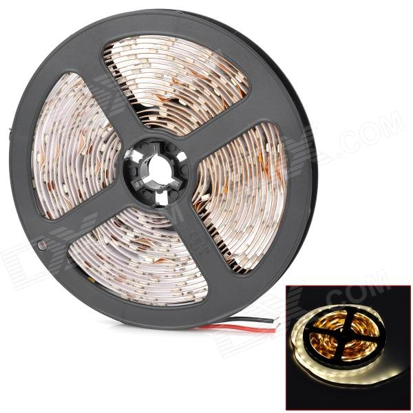 24W 3500K 1200lm 300-SMD 3528 LED Warm White Flexible Lamp Strip (12V / 5m) jr smd3528 60 w 24w 6500k 1200lm 300 smd 3528 led white flexible lamp strip 12v 5m