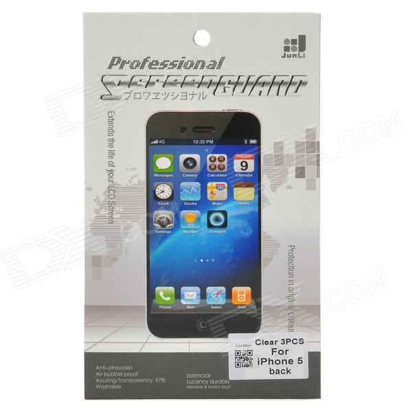 Protective Clear Back Skin Film Protector Guard for Iphone 5 - Transparent