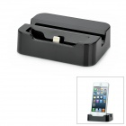 8-pin Lightning Charging Dock Station w/ Holder + USB Cable for iPhone 5 - Black