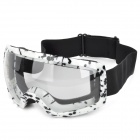T815-27 Racing Motorcycle Skiing Protection Sunglasses Goggles - Black + White