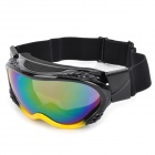 T815-14 Racing Motorcycle Skiing Reflective Protection Sunglasses Goggles - Black + Yellow