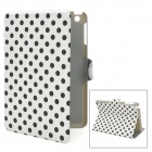 Polka Dot Stil Protective PU Ledertasche für iPad Mini - White + Black