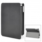 Stylish Protective PU Leather Case w/ Hand Strap for Ipad MINI - Black