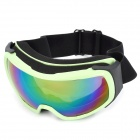 T815-29 Racing Motorcycle Skiing Protection Reflective Sunglasses Goggles - Light Green + Black