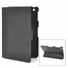 ENK-3304 Ultra-Thin Lychee Pattern Protective PU Leather Case for Ipad MINI - Black