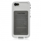 IPEGA Water Resistant Ultra Thin Protective Full Body Case for Iphone 5 - White