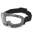 T815-37 Racing Motorcycle Skiing Protection Sunglasses Goggles - Black + Grey