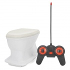 Creative Mini 2-CH Radio Control R/C Flush Toilet Toy - White (4 x AA)