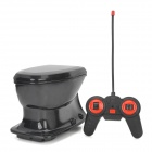 Creative Mini 2-CH Radio Control R/C Closestool Toy - Black (4 x AA)
