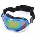 T815-13 Racing Motorcycle Skiing Protection Sunglasses Goggles - Blue + Silver