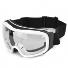 T815-29 Racing Motorcycle Skiing Protection Sunglasses Goggles - Black + White