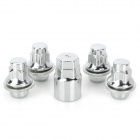 Car Vehicle Wheel Lock Anti-Theft Security Lug Nuts w/ Sleeve for Toyota - Silver (4 PCS / 12mm)