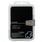 USAMS IMSS01 Protective PU Leather Flip-Open Cover Case for Ipad MINI - Black