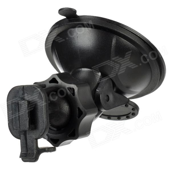 HongChuang XQ55-D1 360 Degrees Adjustable ABS Suction Cup Holder Mount for GPS / Car DVR - Black
