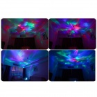 ColorDiamond Aurora Borealis Projector Lamp w/ Speaker - White