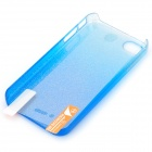 BASEUS Protective Plastic Back Case w/ High Clear Screen Guard Film for Iphone 4 / 4S - Blue