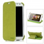 USAMS N7100SS04 Protective PU Leather Flip-Open Case for Samsung N7100 - Green