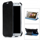 USAMS N7100SS01 Protective PU Leather Flip-Open Case for Samsung N7100 - Black