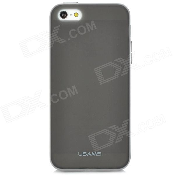 USAMS IP5XMC01 Protective Silicone Back Case for Iphone 5 - Black protective silicone case for nds lite translucent white