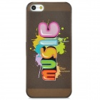 "Colorfilm Creative ""MUSIC"" Pattern Protective Plastic Back Case for Iphone 5 - Multicolored"