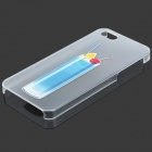 Colorfilm Cold Drink Pattern Protective Plastic Back Case for Iphone 5 - Blue