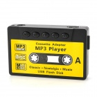 Tape Style USB Rechargeable MP3 Player w/ 3.5mm Audio Jack + Card Slot + Earphones - Black
