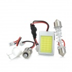 MW13113288 3W 200lm 6500K 18-LED Car White Light Bulb - Silber + Gelb (DC 12 ~ 24V)