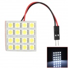 T10 / BA9S / Festoon 42mm 4.8W 160lm 16-SMD 5050 LED White Light Car Lamp - (DC 12V)