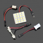 T10 / BA9S / 42 milímetros Festoon 4.8W 160lm 16 SMD 5050 LED White Light Car Lamp - ( DC 12V)