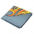 Flame Pattern Multifunction Outdoor Sports Bicycle Cycling Seamless Head Scarf - Grey + Orange