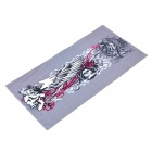Skull Pattern Multifunction Outdoor Sports Bicycle Cycling Seamless Head Scarf - Grey