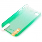 BASEUS Protective Plastic Back Case w/ High Clear Screen Guard Film for iPhone 4 / 4S - Green