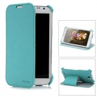 USAMS N7100SS03 Protective PU Leather Flip-Open Case for Samsung N7100 - Blue