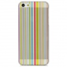 Colorfilm Relief Stripe Style Protective Plastic Back Case for Iphone 5 - Multicolor