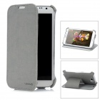 USAMS N7100SS02 Protective PU Leather Flip-Open Case for Samsung N7100 - Grey