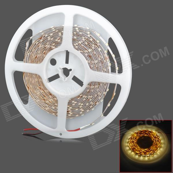 24W 2100lm 300-SMD 3528 LED Warm White Car Decoration Light Strip (5m) - DX3528 SMD Strips<br>Quantity 1 piece(s) Color White + Yellow Material FPC Emitter Type SMD 3528 LED Chip Type Epistar Total Emitters 300 Light Color Warm White Input Voltage 12 V Power 24 W Luminous Flux 2100 lm Color Temperature 3300 K Connector Type Cable connection Waterproof No Application Decoration light Other Features Length: 5m Certification CE Packing List 1 x LED strip<br>