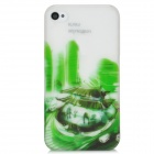 BASEUS UPAPIH4S-KI Graffiti Cartoon Style Protective Plastic Case for Iphone 4 / 4S - White + Green
