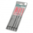 Pro'sKit 8PK-605L Alloy Tool Steel Needle Files Set - gris + rojo (5 PCS)