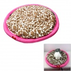 MAXIPA mxp-17110 Leopard Pattern Soft Plush Pet Bed Mat for Cat / Dog - Deep Pink + Brown + White