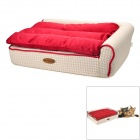 MAXIPA mxp-17111 Soft Plush Pet Bed for Dog / Cat - Red + White