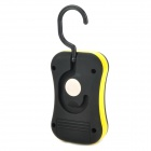 Multi-Function 2-Mode 28-LED White Light Outdoor Lamp w/ Rotational Hook - Black + Yellow (3 x AAA)