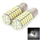 1157 18W 540lm 120-SMD 3528 LED White Car Brake Lights (2 PCS)