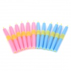 Salon Hair EPE magic itseliimautuva Rollers kiharrin Sauvat Set - Blue + Deep Pink (12 PCS)