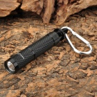 SMALL SUN ZY-712 40lm Mini LED White Flashlight w/ Carabiner - Black (1 x AAA)