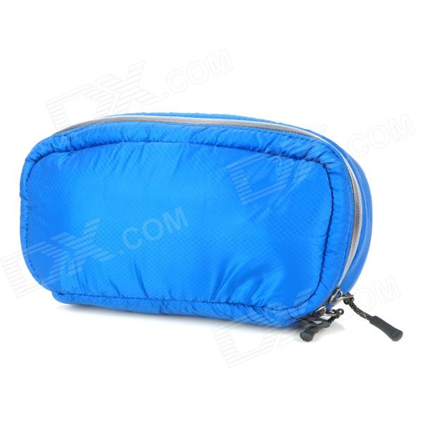 Naturehike-NH Outdoor Camping Shockproof Nylon Zippered Storage Bag - Deep Blue + Black universal nylon cell phone holster blue black size l